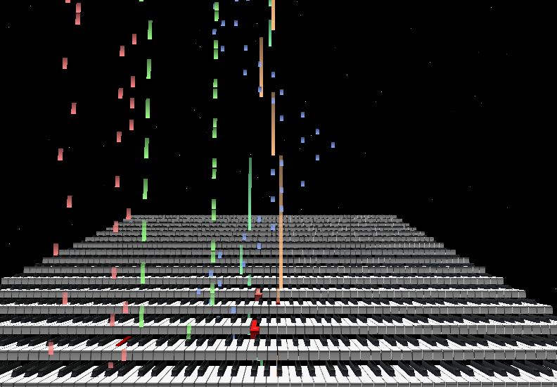 MIDI Trail 鍵盤表示2
