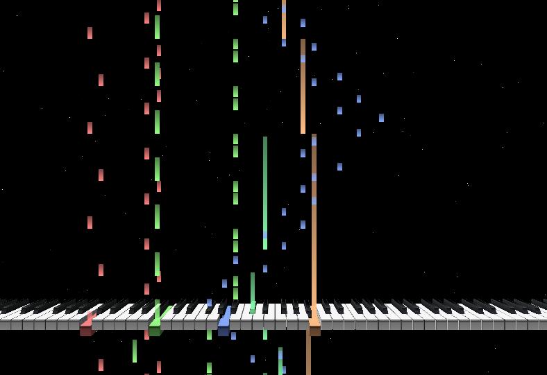 MIDI Trail 鍵盤表示1